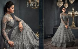 Phenomenal Net Embroidered Anarkali Salwar Kameez
