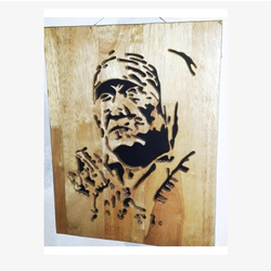 Public Figure Wooden Carving PF2