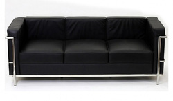 3 Seater Leather Office Sofa