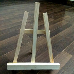 """24 Pack of Mini Wood 5/"""" Tabletop Art Craft Display Easels NATURAL Wooden Finish"""