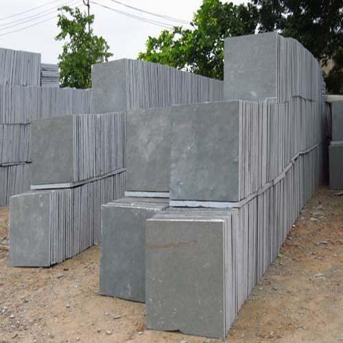 Grey Kota Stone Tiles, for Flooring, Thickness: 5-10 Mm