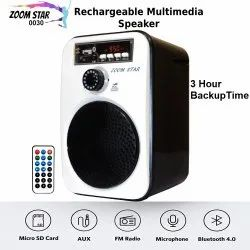 Abs Plastic 2.0 Zoom Star 0030 Rechargeable Bluetooth Multimedia Speaker