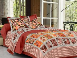 Flower Print Bedsheet for Double Bed