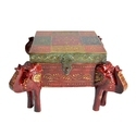 Elephant Shape Wooden Dry Fruit Box