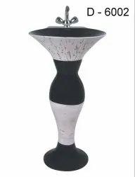 Neora Ceramic Round Pedestal Wash Basin, For Bathroom