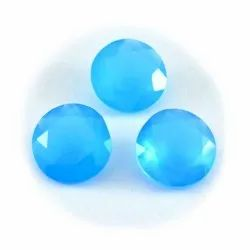 Natural Aqua Chalcedony Loose Gemstone Wholesale Lot of 9X9 mm Round Cabochon