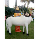 Special Combo Pack of The White Cow & Krishna Statue