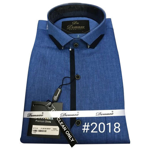 cd8825ac Mens Designer Shirts - Mens Fancy Blue Shirt Manufacturer from New Delhi