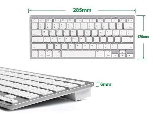 Ultrathin Bluetooth Keyboard For Ipad models, IOS ,Android