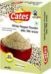 Cates White Pepper Powder, Packaging: 50 g