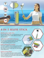 Bluetooth Selfie Speaker With Power Bank