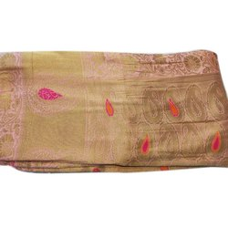 Party Wear Designer Embroidered Cotton Saree, Length: 5.5 m