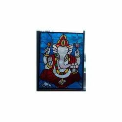 Ganesh Printed Glass