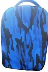 Printed Unisex Royal Blue Jungle Print Laptop Bag / Backpack for College