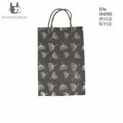 Linen Carry Bag (M) - off-white dandelion print, jute rope handles