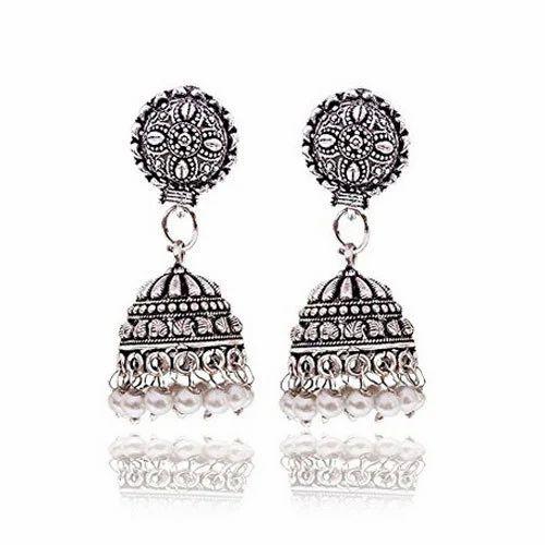 59417de5f Oxidized Silver Oxidized Earrings