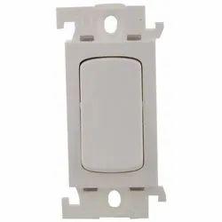 16 A White Legrand Modular Electrical Switch, Switch Size: 1 Module, 110 - 240 V
