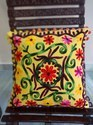 Indian Suzani Embroidered Pillow Cover