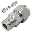 SS Pipe Connectors with Ferrule Fittings