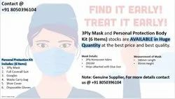 3 Ply Mask and Body Protection Body Kit