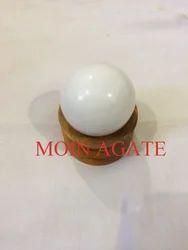 White Agate Stone Ball