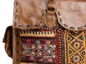 Leather Embroidered Bag
