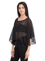 Cottinfab Women's Printed Poncho Top