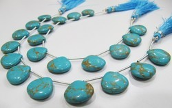 Blue Copar Turquoise Smooth Plain beads