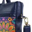 Crimson Auto Designer Canvas PU Laptop Bag