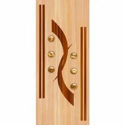 Hinged Decorative Wooden PVC Door, Thickness: 32 Mm, Interior