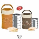 Goodday Plastic, Stainless Steel Alpine 4 Lunch Box, Capacity: 4 Layer