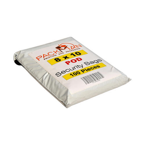 White 8 X 10 Inches POD Premium 60 Microns Security Bags