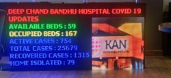 LED Displays For Hospitals, Dimension: 6 Feet*3 Feet, Life Span: 50000