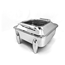 Square Glass Lid Chafer with Cucumber legs