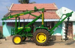 Tractor Mounted Pole Hole Drilling Machine