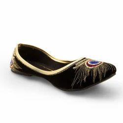 Golden Sequins Work Ballerina Sandals 304