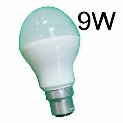 Round Cool Daylight 9W Ceramic LED Bulb, Base Type: B22, 0-40 Degree C