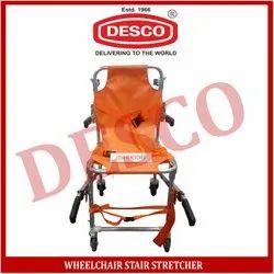 Folding Chrome Wheelchair Stair Stretcher, Aluminium