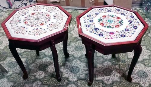 Marble Inlay Coffee Table Tops