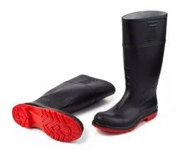 Black and Red Industrial Boot