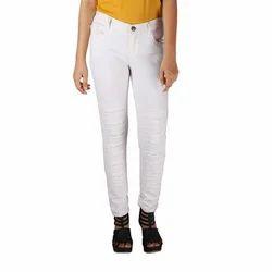 Fashion 4 U Ladies White Designer Jeans, Waist Size: 28 to 40