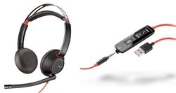 Wired Plantronics C5220 Black Wire, Weight: 164.2 Gm