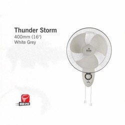 Thunder Strom White Grey Wall Mount Fan