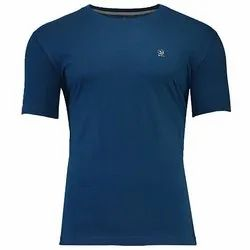 Woodland Round Neck Men''s Plain T-Shirt