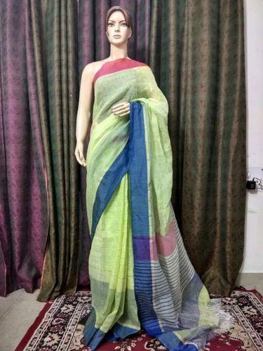 775f1c60a0 Multicolor Party Wear Ladies Fancy Linen Saree