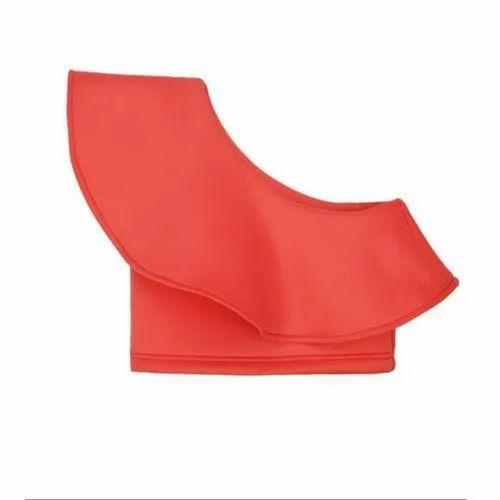 Scuba Kids Girls Plain Red Crop Top