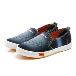 Mens Blue Denim Sneaker Canvas Shoes