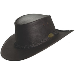 TM Exports Mens Black Leather Hat