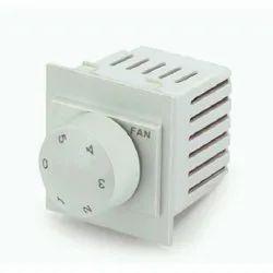 White Square Fan Regulator, Control, 110-240 V