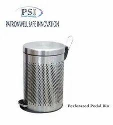 Steel Perforatd Pedal Bin
